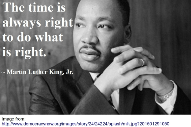 MLK What's right quote